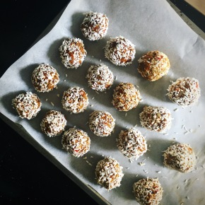 Frozen Raw Carrot Cake Balls